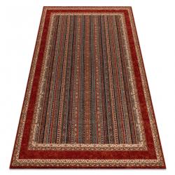 Wool carpet KASHQAI 4357 300 frame, oriental green / claret