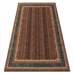 Wool carpet KASHQAI 4357 400 frame, oriental terracotta