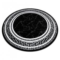 Modern GLOSS szőnyeg kör 2813 87 elegáns, keret, görög fekete