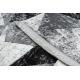 Dywan TULS nowoczesny, strukturalny, frędzle 51211 Geometryczny antracyt