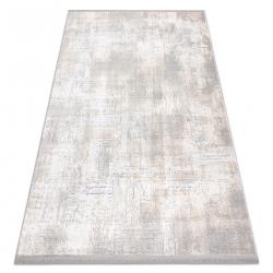 Moderní koberec TULS strukturální, střapce 51231 Vintage slonová kost / šedá