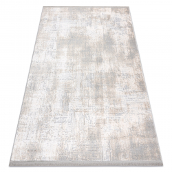 Moderný koberec TULS štrukturálny, strapce 51231 Vintage slonová kosť / sivá