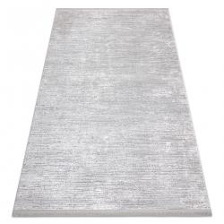 Tapete moderno TULS estrutural, franjas 51248 cinzento