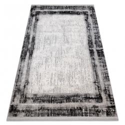 Modern carpet TULS structural, fringe 51235 Vintage, frame anthracite