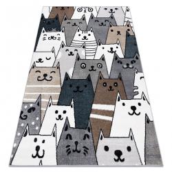 Carpet FUN Gatti for children, cats, animals colorful multi