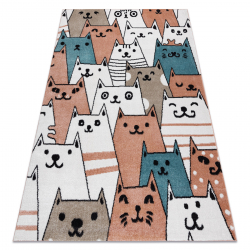 Carpet FUN Gatti for children, cats, animals pink