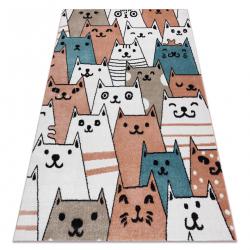 Килим FUN Gatti для дітей, коти тварини рожевий