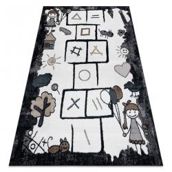 Carpet FUN Hop for children, hopscotch, animals black