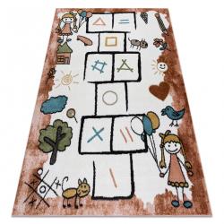 Carpet FUN Hop for children, hopscotch, animals pink