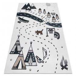 Carpet FUN Indian for children, Indian village, animals cream