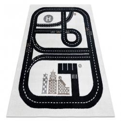 Carpet FUN Track for children, street, town cream