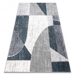 Килим POLI 8408A Геометричні білі / сірий