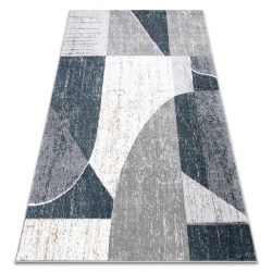 Koberec POLI 7569A Geometrický biely / sivá