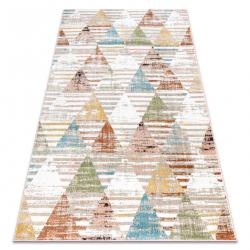 Teppich POLI 9051A Geometrisch, Dreiecke beige / terrakotta