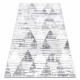 Dywan POLI 9051A Geometryczny, Trójkąty biały / szary
