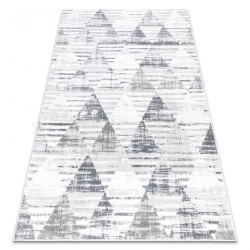 Carpet POLI 9051A Geometric, Triangles white / grey