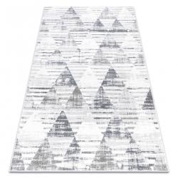 Koberec POLI 9051A Geometrický, trojuholníky biely / sivá