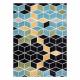 Dywan POLI 9139A Cube kostka 3D czarny / niebieski