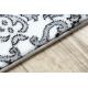 Tappeto ARGENTO - W4949 Fiori bianca / grigio