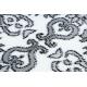 Teppich ARGENT - W4949 Blumen weiß / grau