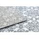 Koberec ARGENT - W4949 květiny bílá / šedá
