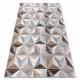 Teppich ARGENT - W6096 Dreiecke beige / grau