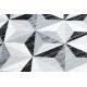 Dywan ARGENT - W6096 Trójkąty szary / czarny