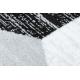 Tappeto ARGENTO - W6096 Triangoli gris / nero