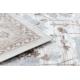 Koberec ARGENT - W7039 květiny béžový / šedá