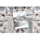 Tappeto ARGENTO - W7039 Fiori beige / grigio