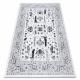 Teppich ARGENT - W7039 Blumen grau / schwarz