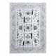 Koberec ARGENT - W7039 květiny šedá / černý