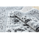 Tappeto ARGENTO - W7039 Fiori grigio / nero