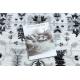 Dywan ARGENT - W7039 Kwiaty szary / czarny