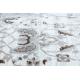 Teppich ARGENT - W7040 Rahmen, vintage grau / beige