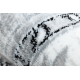 Koberec ARGENT - W7040 Rám, vintage šedá / černý