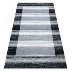 Ковер ARGENT - W9557 Рамка, vintage, линии серый