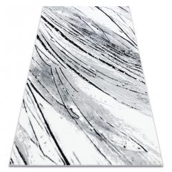 Килим ARGENT – W9563 линии бял / сив