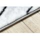 Koberec ARGENT - W9563 řádky bílá / šedá