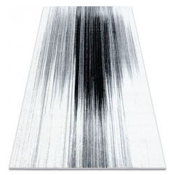 Tapis ARGENT - W9571 Abstraction blanc / gris