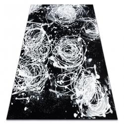 Tapis ARGENT - W9565 Abstraction gris et noir