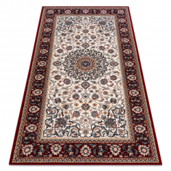 Carpet Wool NAIN Ornament, frame 6635/51036 beige / claret