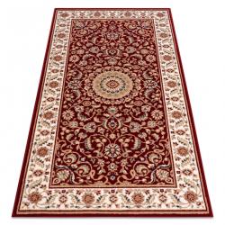 Carpet Wool NAIN Rosette, frame 7176/51066 claret