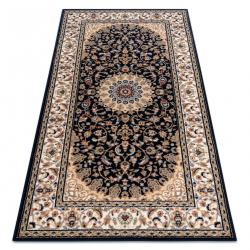 Carpet Wool NAIN Rosette, frame 7177/51011 beige / black