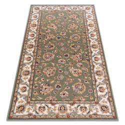 Carpet Wool NAIN Ornament, frame 7338/51088 green / beige