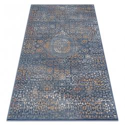 Carpet Wool NAIN Ornament 7708/51911 navy / orange