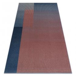 Tapete NAIN Geométrico 7710/51944 vermelho / azul