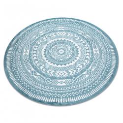 Okrúhly koberec FUN Napkin obrúsok - modrý