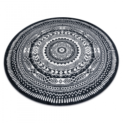 Carpet FUN Napkin circle - black