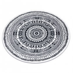 Okrúhly koberec FUN Napkin obrúsok - krém